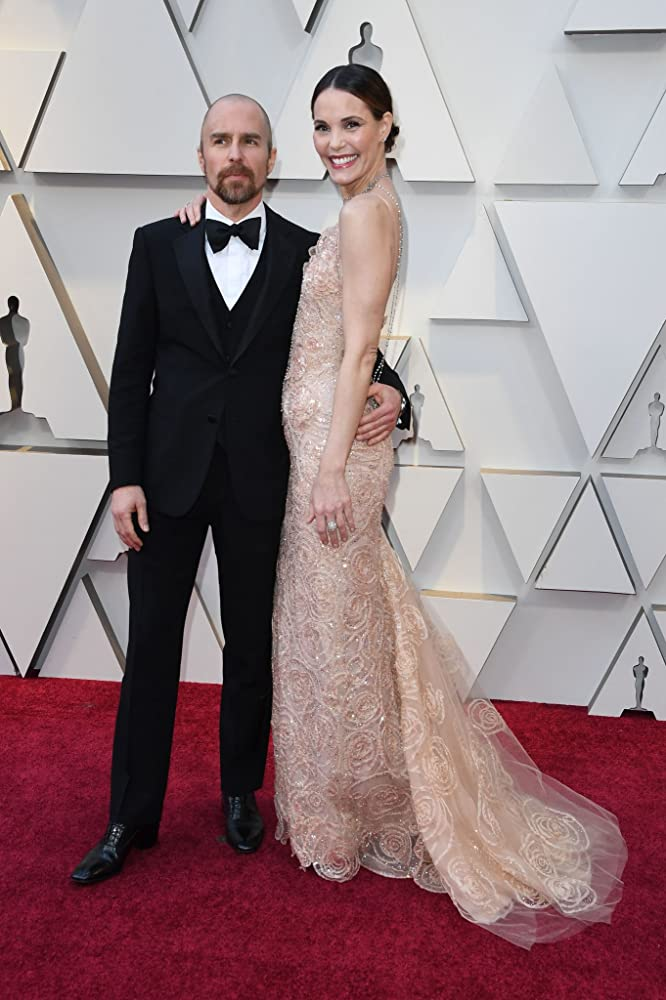 Leslie Bibb and Sam Rockwell at an event for The Oscars (2019)