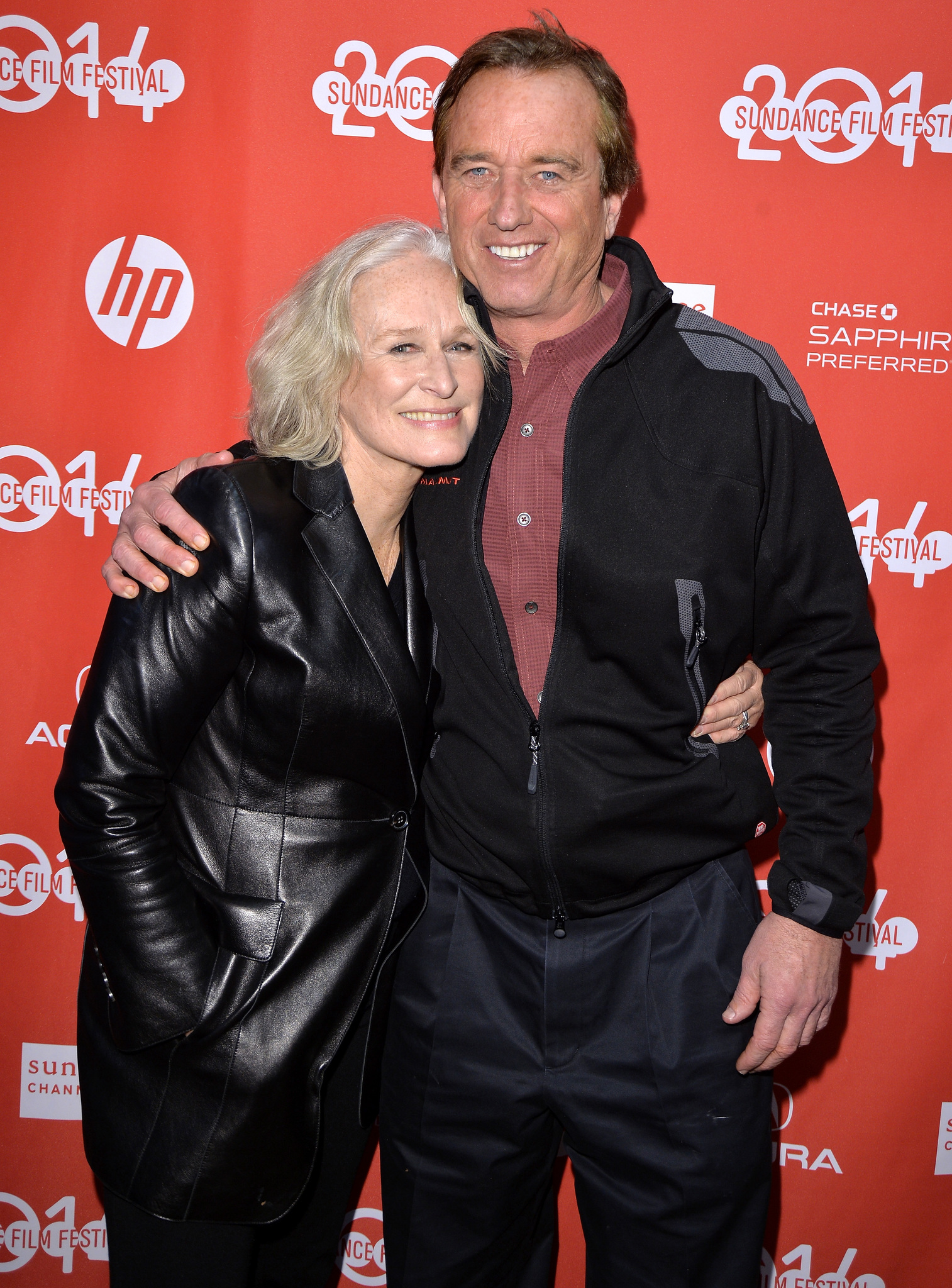 Glenn Close and Robert F. Kennedy Jr. at an event for Low Down (2014)