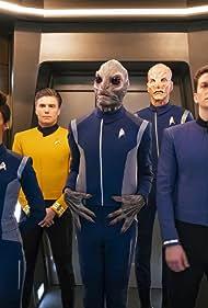 Doug Jones, Anson Mount, David Benjamin Tomlinson, Rachael Ancheril, Sonequa Martin-Green, and Sean Connolly Affleck in Star Trek: Discovery (2017)