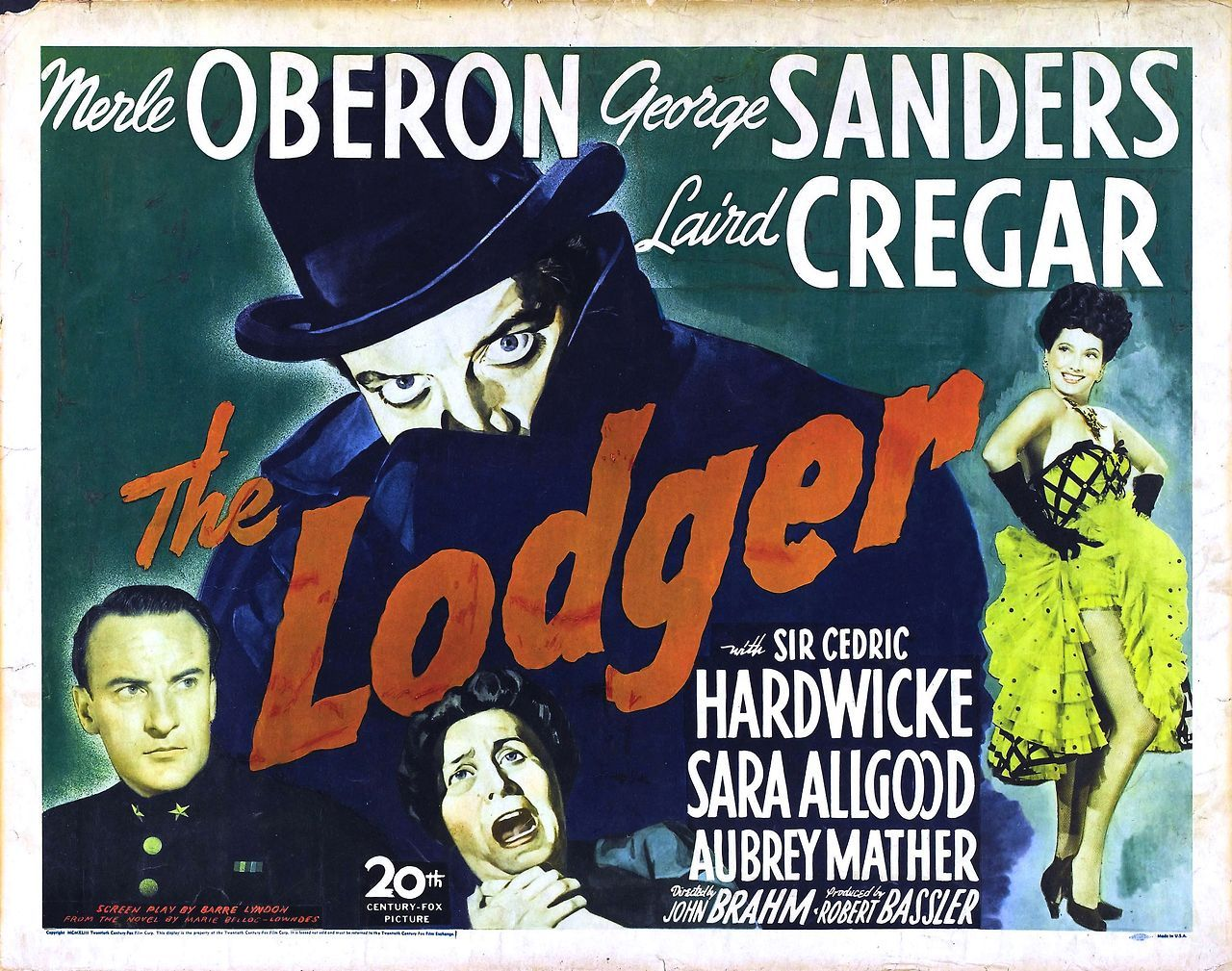 George Sanders, Laird Cregar, and Merle Oberon in The Lodger (1944)