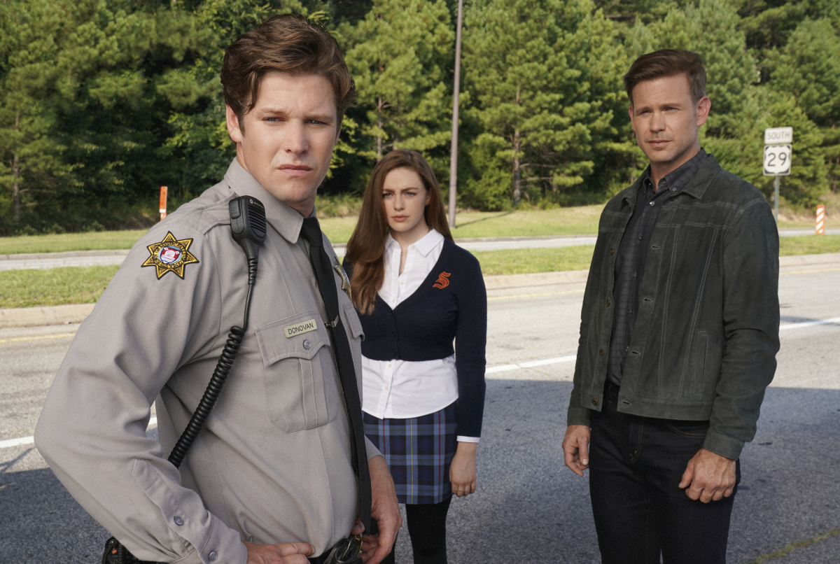 Matthew Davis, Zach Roerig, and Danielle Rose Russell in Legacies (2018)