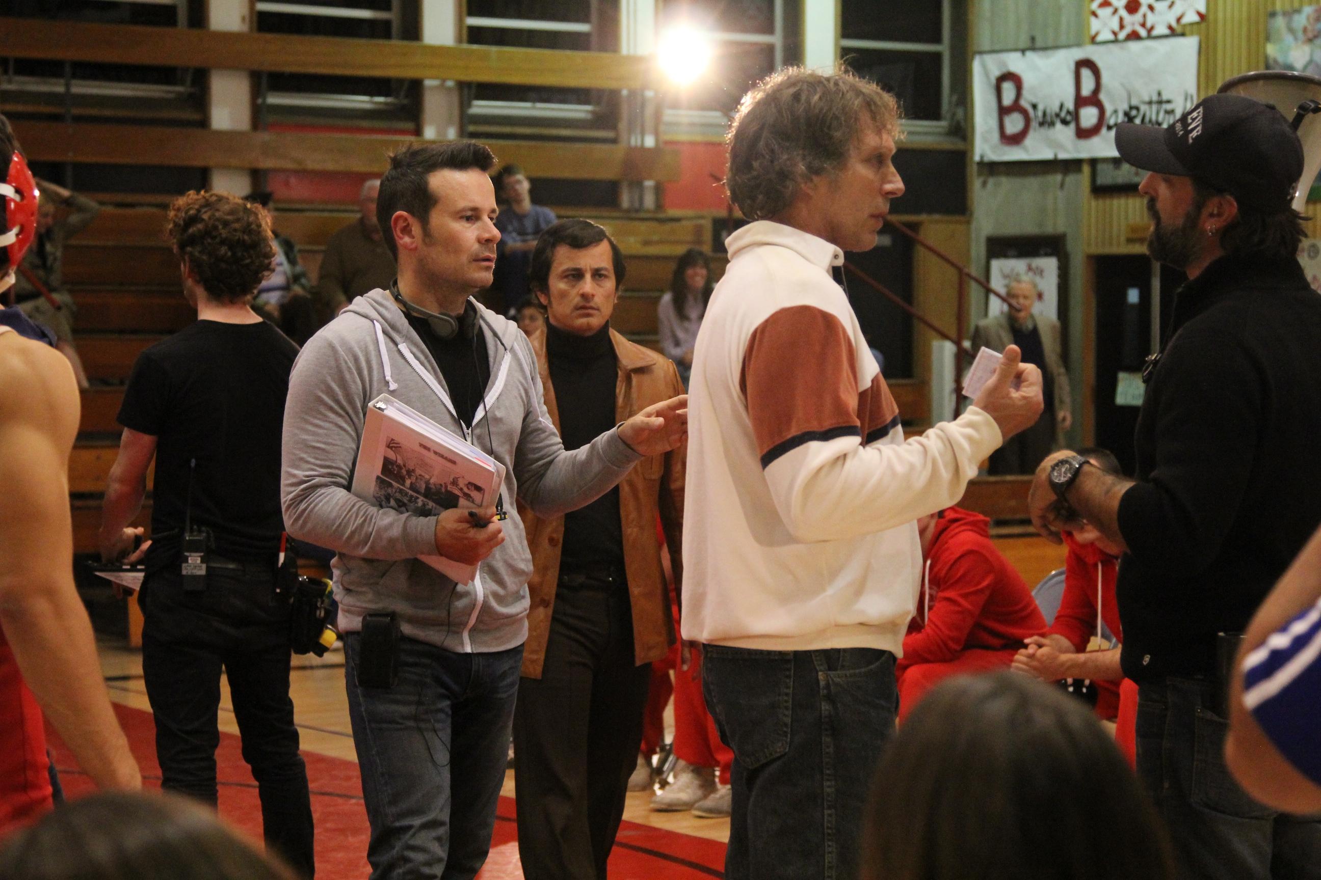 "Alex Ranarivelo on the set of ""The Wizard."""