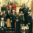 Al Pacino, Andy Garcia, Diane Keaton, Sofia Coppola, John Savage, Talia Shire, Franc D'Ambrosio, Donal Donnelly, Brett Halsey, Tere Livrano, Al Martino, and Eli Wallach in The Godfather: Part III (1990)
