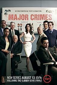 Mary McDonnell, G.W. Bailey, Michael Paul Chan, Raymond Cruz, Tony Denison, Robert Gossett, Jon Tenney, Phillip P. Keene, and Kearran Giovanni in Major Crimes (2012)