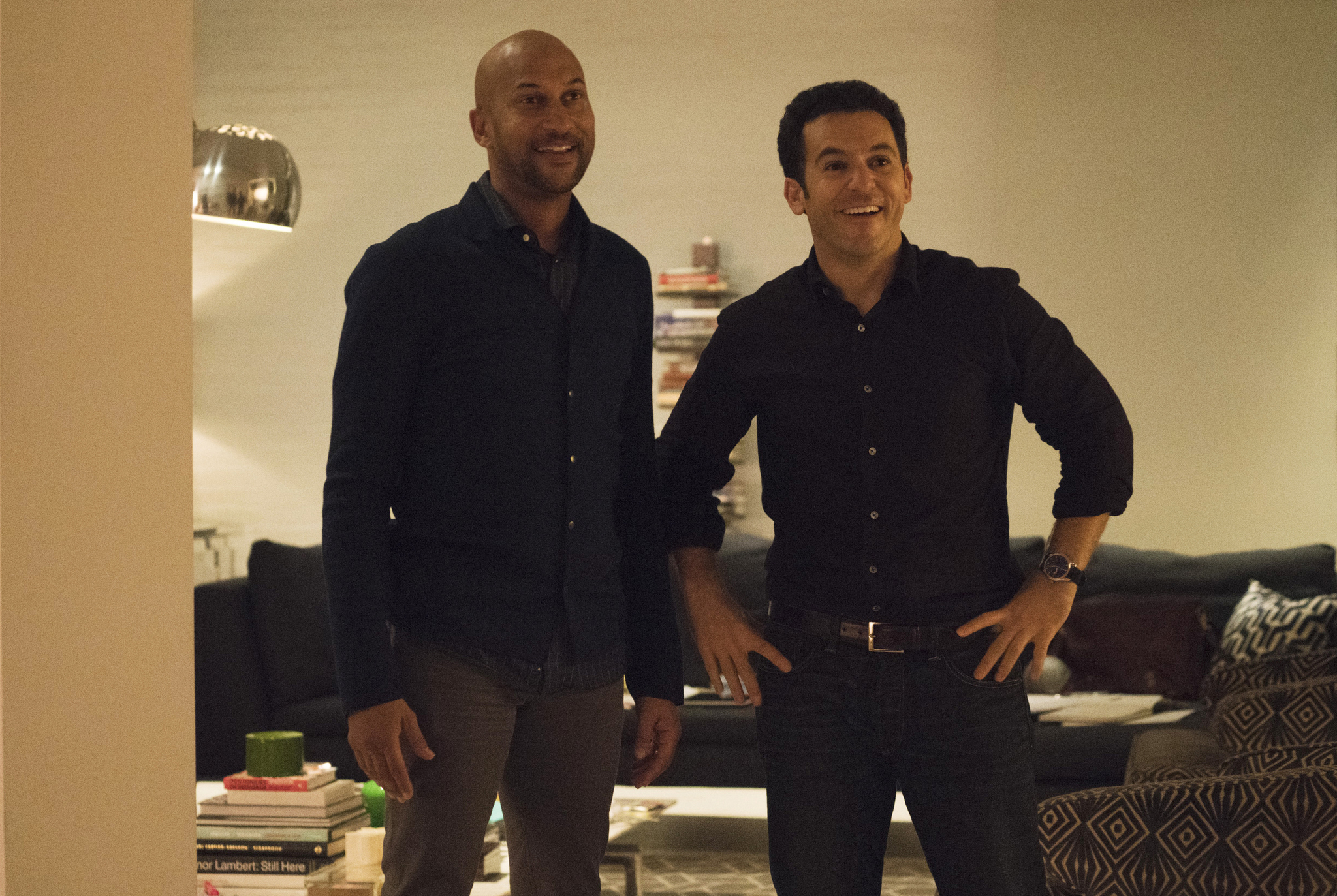 Fred Savage and Keegan-Michael Key in Friends from College (2017)