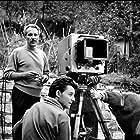 Jacques Becker and Gérard Philipe in Les amants de Montparnasse (1958)