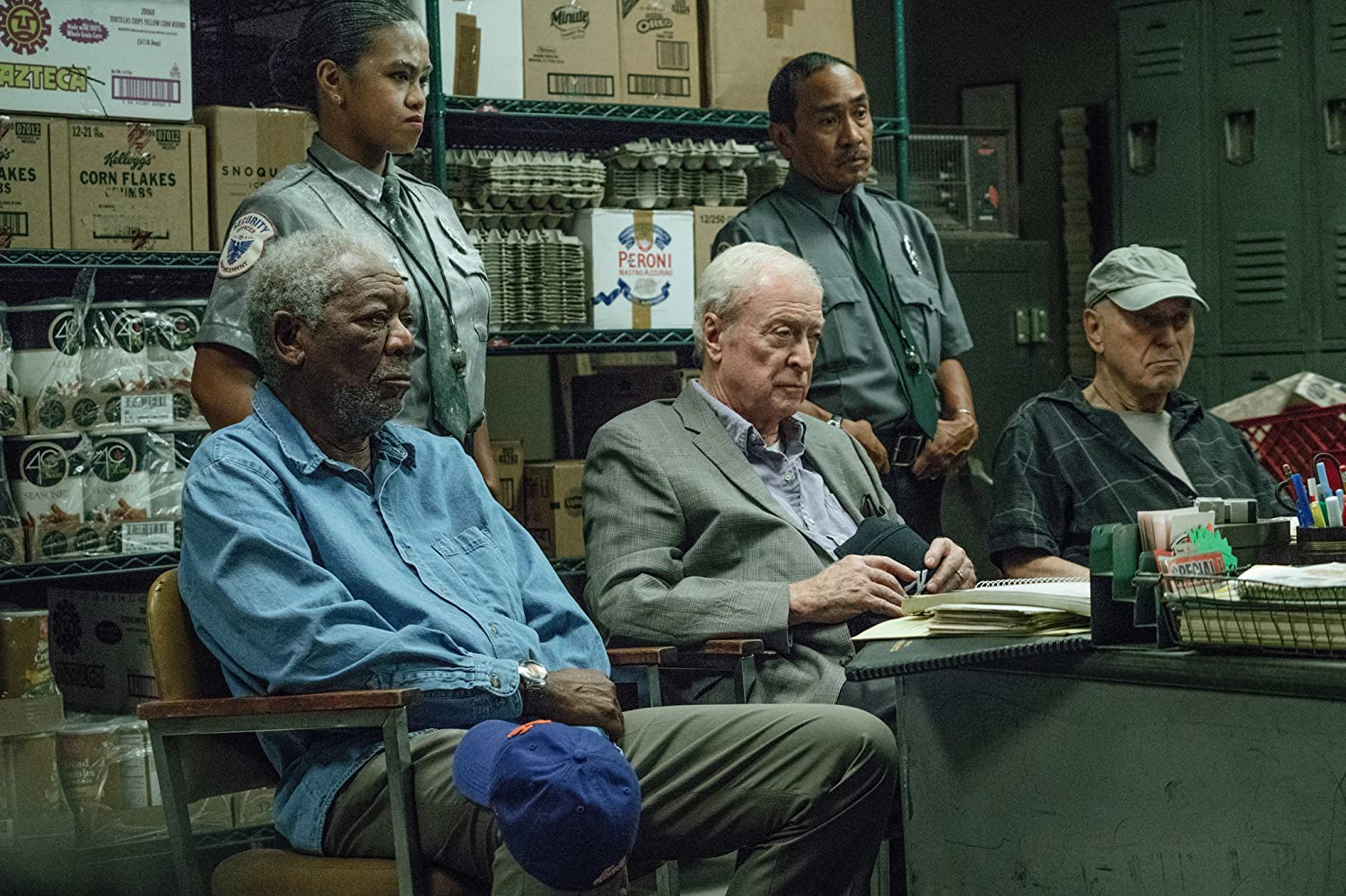 Morgan Freeman, Alan Arkin, and Michael Caine in Going in Style (2017)