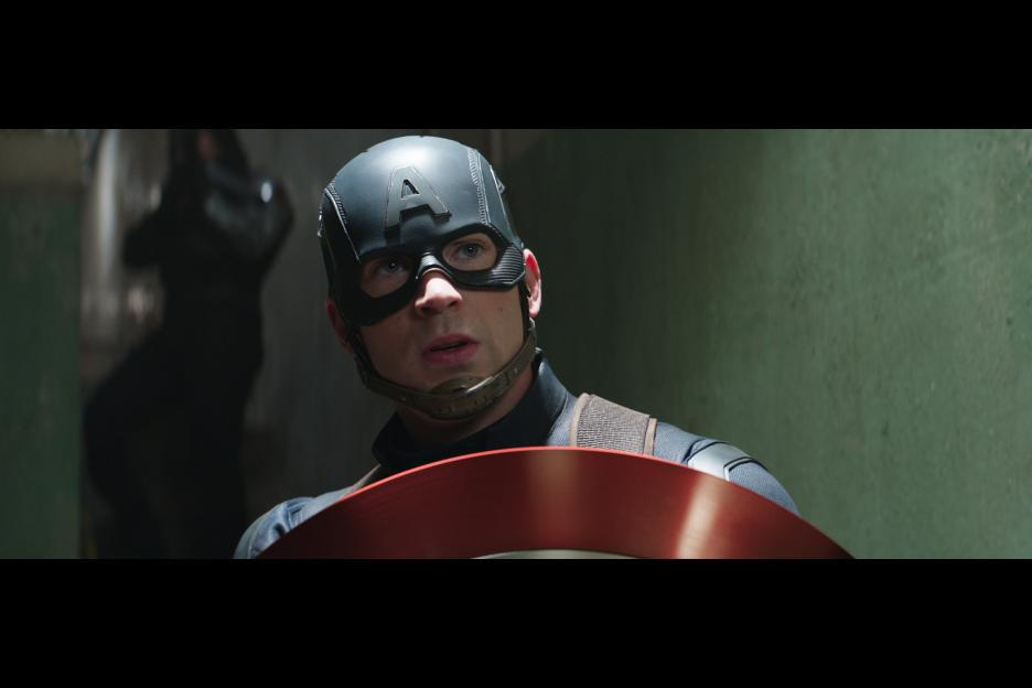 Chris Evans and Sebastian Stan in Captain America: Civil War (2016)