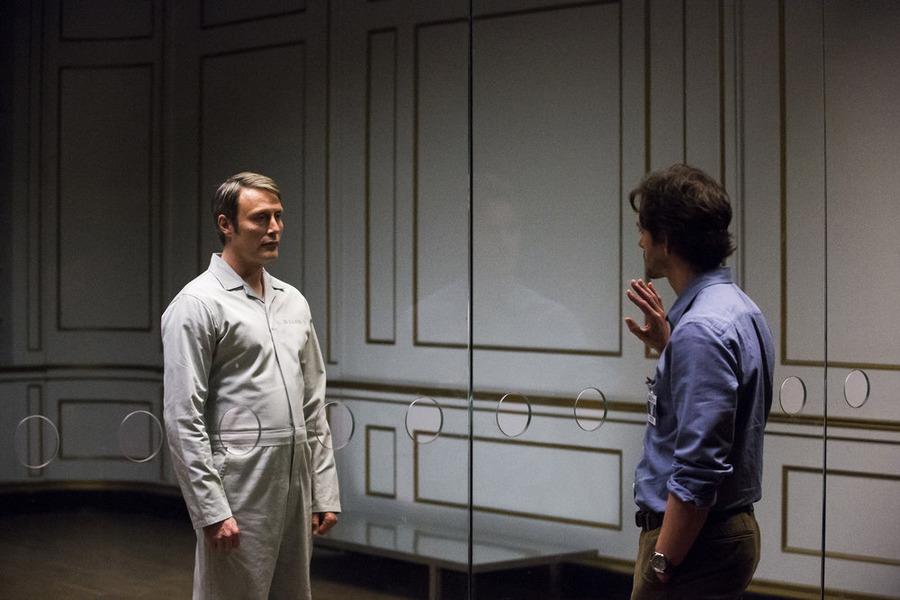 Hugh Dancy and Mads Mikkelsen in Hannibal (2013)