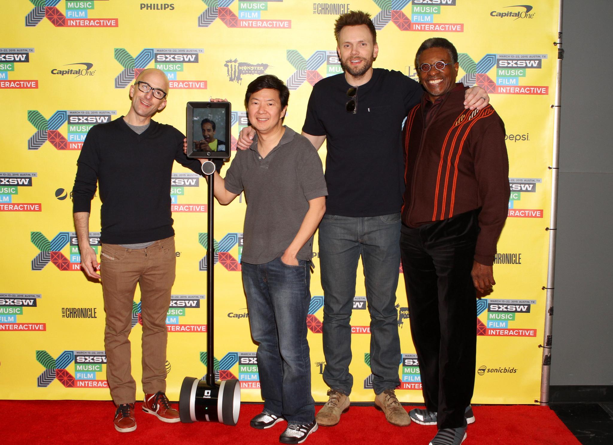 Keith David, Ken Jeong, Joel McHale, Jim Rash, and Danny Pudi at an event for Community (2009)