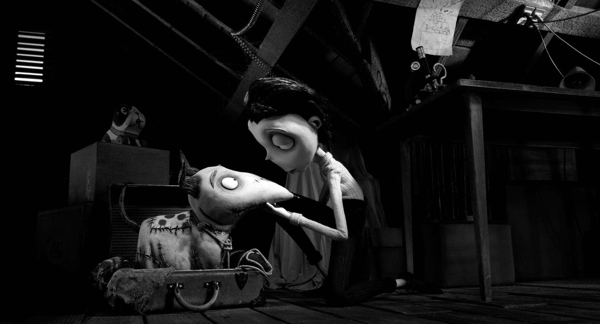 Frank Welker and Charlie Tahan in Frankenweenie (2012)