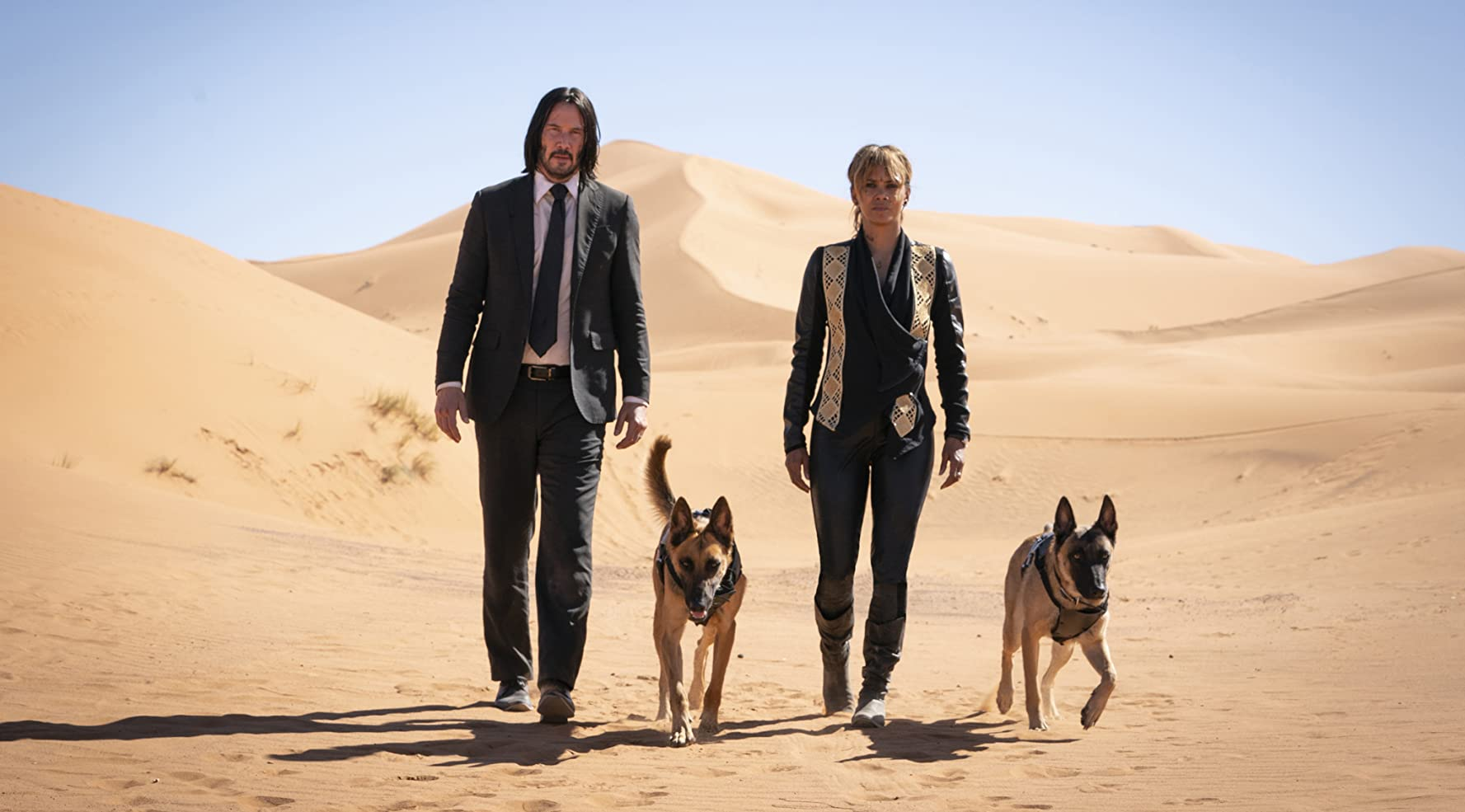 Keanu Reeves and Halle Berry in John Wick: Chapter 3 - Parabellum (2019)