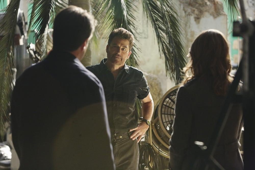 Nathan Fillion, Ted McGinley, and Stana Katic in Castle (2009)