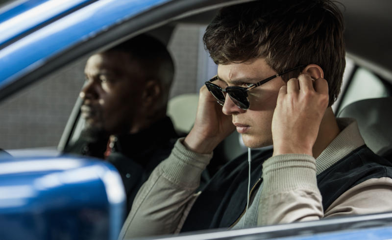 Jamie Foxx and Ansel Elgort in Baby Driver (2017)