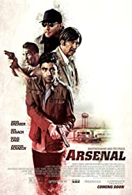 Nicolas Cage, John Cusack, Johnathon Schaech, and Adrian Grenier in Arsenal (2017)