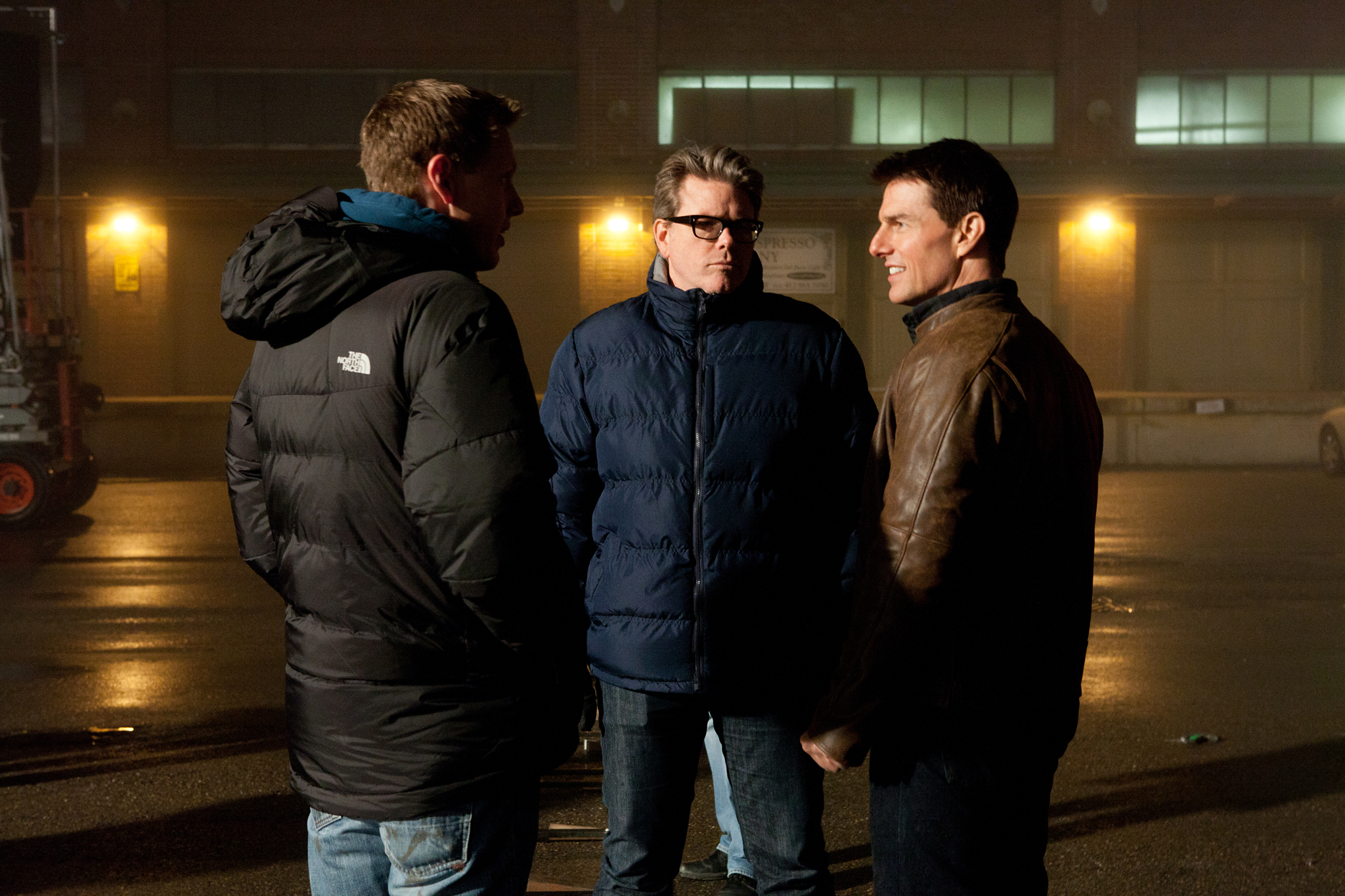 Tom Cruise, Christopher McQuarrie, and David Ellison in Jack Reacher (2012)