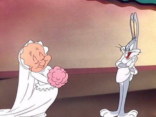 Mel Blanc and Arthur Q. Bryan in Rabbit of Seville (1950)