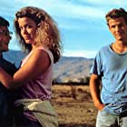Peter Berg, Claudia Christian, and Andy Lauer in Never on Tuesday (1988)