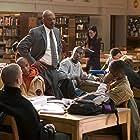 Samuel L. Jackson, Rob Brown, Rick Gonzalez, Robert Ri'chard, Antwon Tanner, Channing Tatum, and Nana Gbewonyo in Coach Carter (2005)