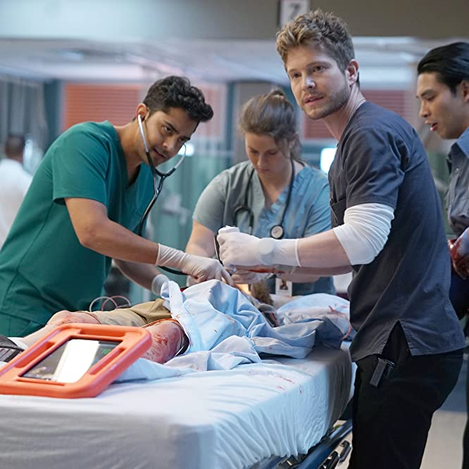 Matt Czuchry and Manish Dayal in The Resident (2018)