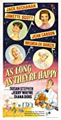 As Long as They're Happy (1955) Poster