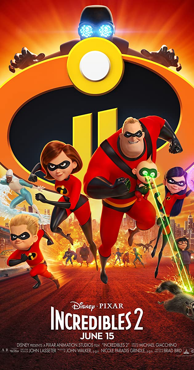 Incredibles 2 2018 (BluRay) - New Hollywood Dubbed Movies