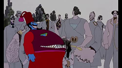 The Beatles agree to accompany Captain Fred in his Yellow Submarine and go to Pepperland to free it from the music hating Blue Meanies.