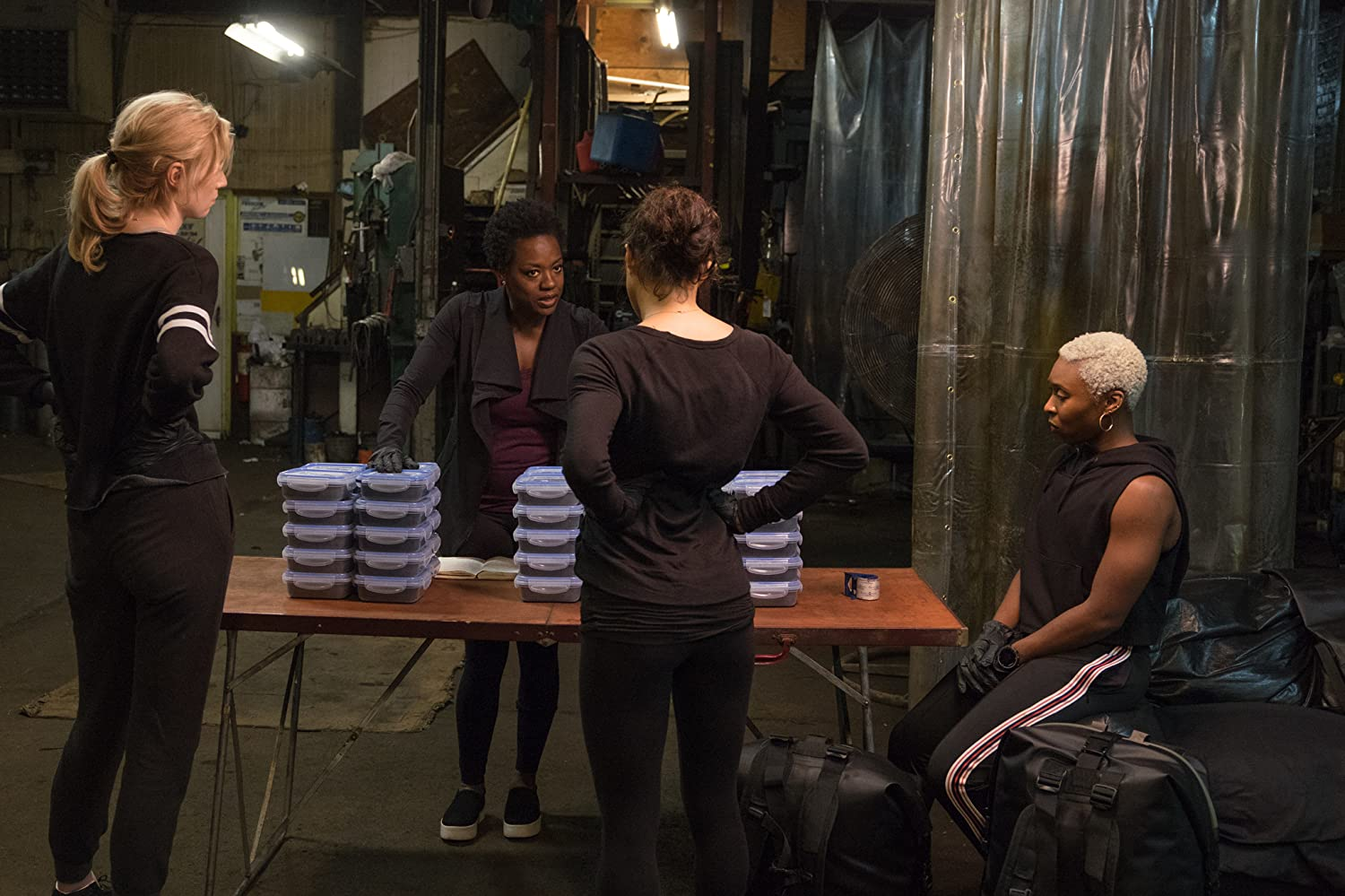 Viola Davis, Michelle Rodriguez, Elizabeth Debicki, and Cynthia Erivo in Widows (2018)