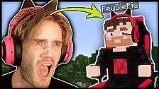 ¡Encontré un jefe PewDiePie en Minecraft! (Real)