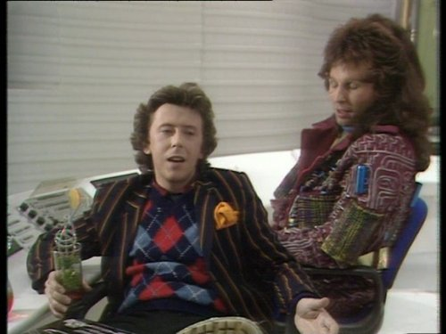 David Dixon and Mark Wing-Davey in The Hitchhiker's Guide to the Galaxy (1981)