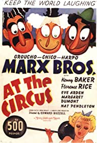 Groucho Marx, Eve Arden, Chico Marx, and Harpo Marx in At the Circus (1939)