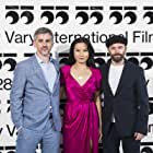 """Bart Ruspoli, Lourdes Faberes and Philip Barantini at the World Premiere of """"Boiling Point"""" (2021) at the 55th Karlovy Vary International Film Festival"""