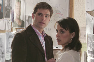 Daniel Cosgrove and Constance Zimmer in In Justice (2006)