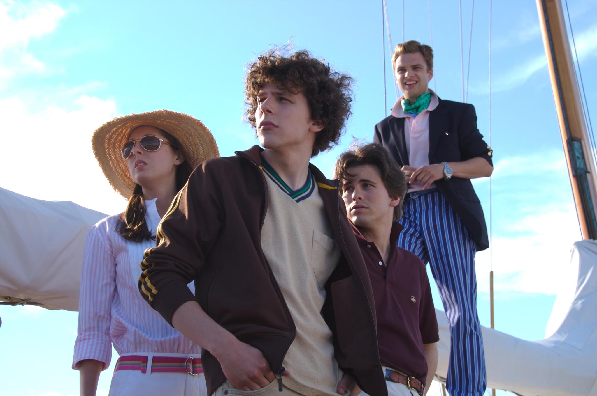 Eva Amurri, Jesse Eisenberg, Jason Ritter, and Sebastian Stan in The Education of Charlie Banks (2007)
