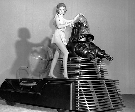 """Forbidden Planet"" Anne Francis, Robby the Robot, MGM, 1956, **I.V."