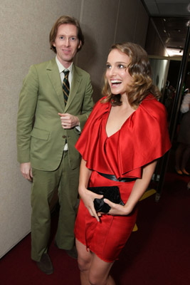 Natalie Portman and Wes Anderson at an event for The Darjeeling Limited (2007)