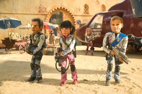 Matt Stone, Trey Parker, Masasa Moyo, and Kristen Miller in Team America: World Police (2004)