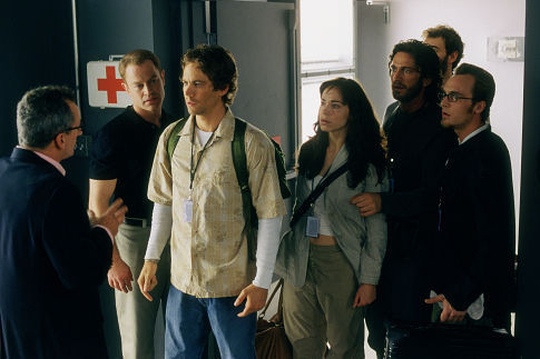 (Left to right) Matt Craven, Neal McDonough, Paul Walker, Frances O'Connor, Gerard Butler, Rossif Sutherland and Ethan Embry.
