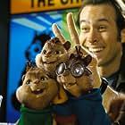 Jason Lee, Justin Long, Jesse McCartney, and Matthew Gray Gubler in Alvin and the Chipmunks (2007)