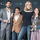 Issa López, Marco Polo Constandse, Ianis Guerrero, Paola Lara, and Juan Ramón López at an event for Vuelven (2017)