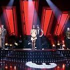 Joey Fatone, Laila Ali, Apolo Ohno, Kym Johnson Herjavec, Maksim Chmerkovskiy, and Julianne Hough in Dancing with the Stars (2005)