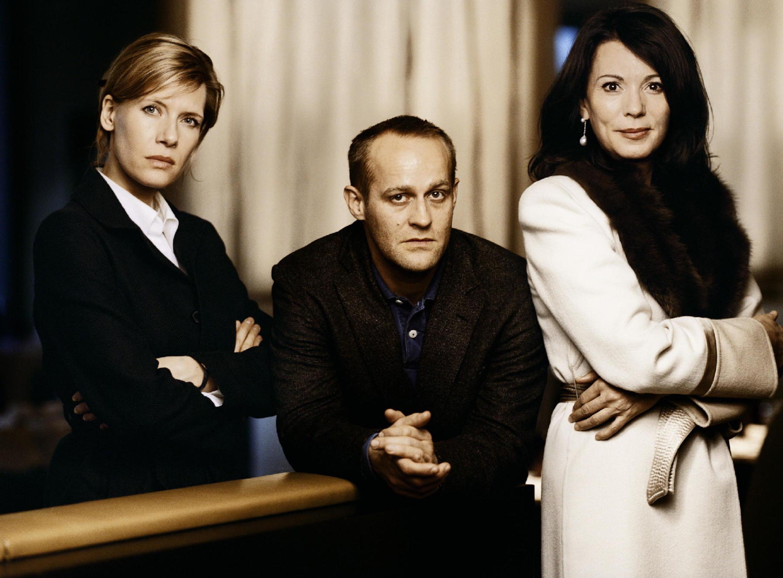 Iris Berben, Jürgen Vogel, and Ina Weisse in Duell in der Nacht (2007)