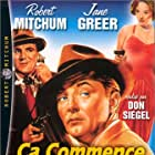 Robert Mitchum, William Bendix, and Jane Greer in The Big Steal (1949)