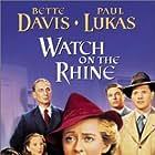Bette Davis, Donald Buka, Paul Lukas, Eric Roberts, Janis Wilson, and Donald Woods in Watch on the Rhine (1943)