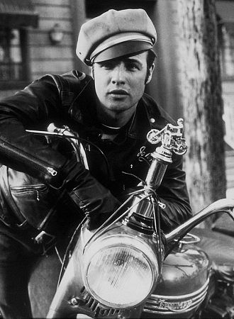 "Marlon Brando in ""The Wild One"" 1954 Columbia"