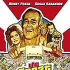 Henry Fonda, Susan Sarandon, Eileen Brennan, and Dub Taylor in The Last of the Cowboys (1977)