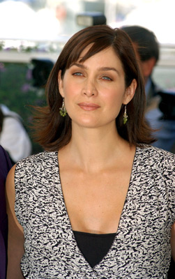 Carrie-Anne Moss at an event for The Matrix Reloaded (2003)