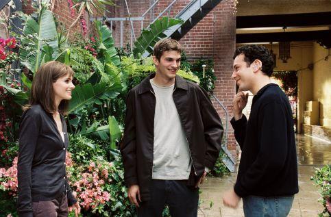 Amanda Peet, Ashton Kutcher, and Tyrone Giordano in A Lot Like Love (2005)