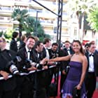 Stephanie Johnson on the red carpet at the 2005 Cannes International Film Festival.
