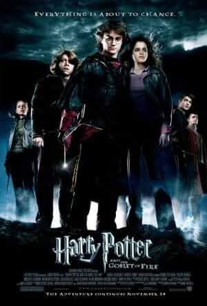 Rupert Grint, Daniel Radcliffe, Emma Watson, Clémence Poésy, Robert Pattinson, and Stanislav Yanevski in Harry Potter and the Goblet of Fire (2005)
